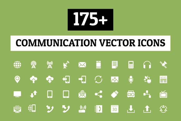 175 Communication Vector Icons