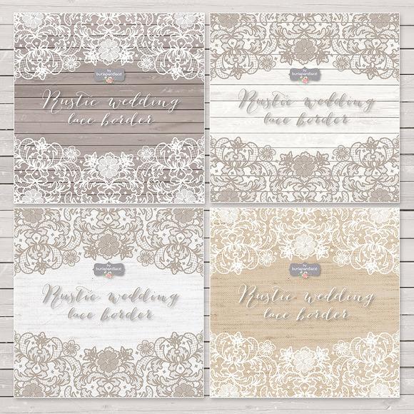 Vector Lace Wedding Border Clipart