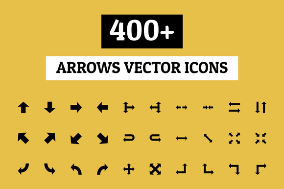 400 Arrows Vector Icons