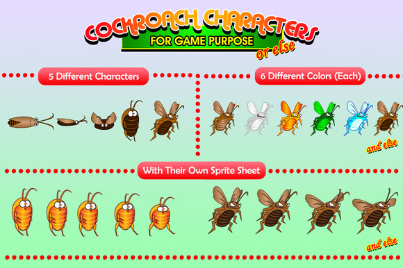 Cockroaches Characters