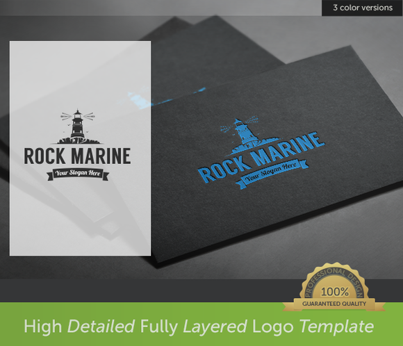 Lighthouse Rock Marine Logo