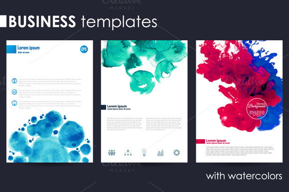Set Of Three Business Templates
