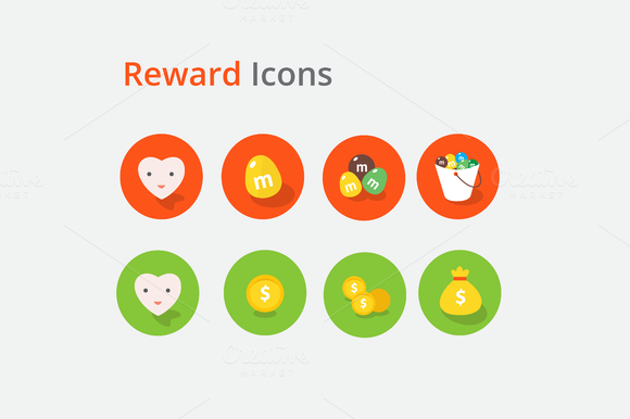 8 Reward Icons