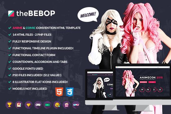 The Bebop Anime And Comic HTML Theme