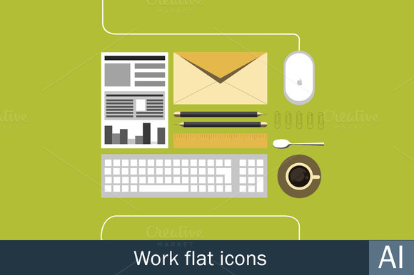 Work Flat Icons
