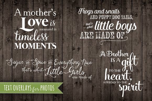 Photo Quote Phrase Overlays Set PNG