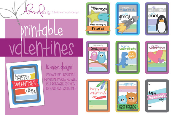 Kids Printable Valentines