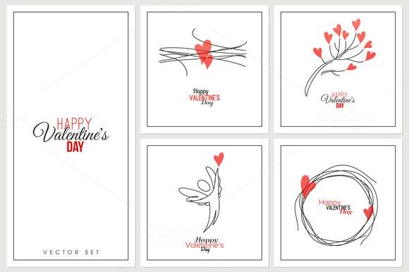 Romantic Line Symbols Of Love