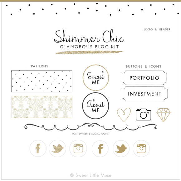 Shimmery Blog Kit
