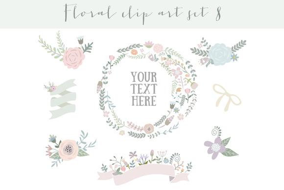 Floral Clipart Set 8