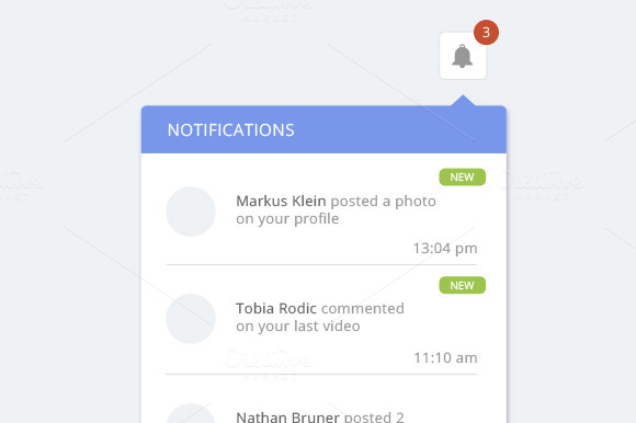 Clean Notification Dropdown Design