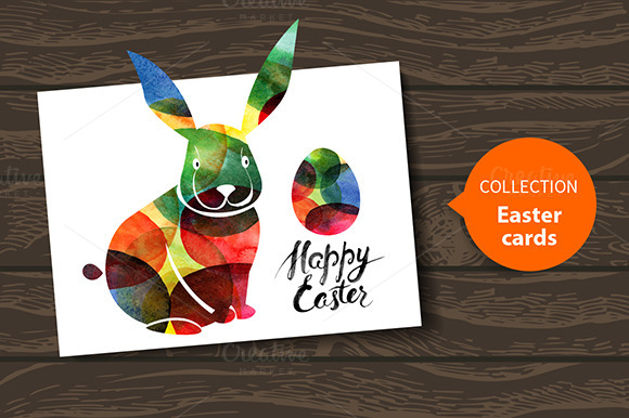 Happy Easter Watercolor Cards