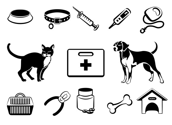 Pets Veterinary Medicine Icons