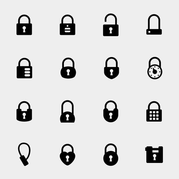 Simple Padlock Icons