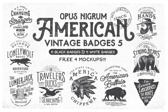 American Vintage Badges 5