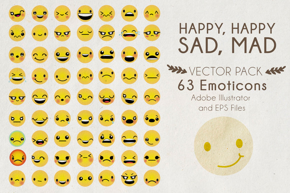 Happy Happy Sad Mad Vector Pack