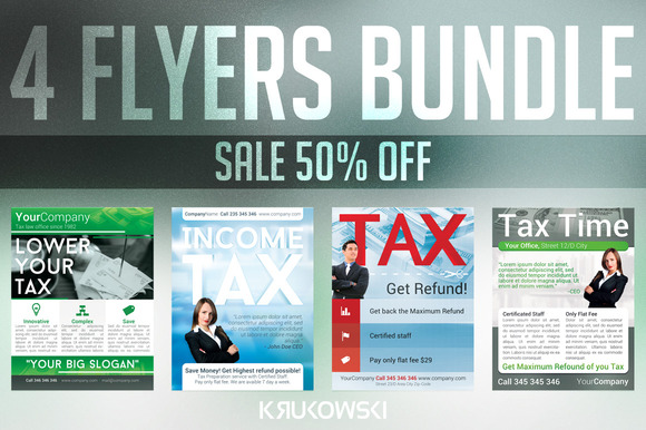 Tax Service Flyers Bundle