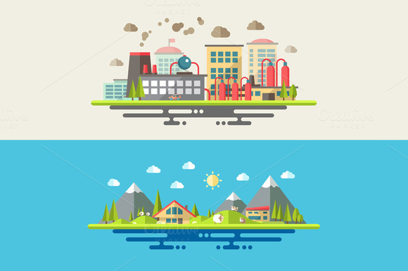 Modern Landscape Illustrations