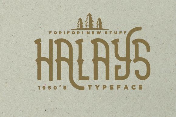 Halays Typeface
