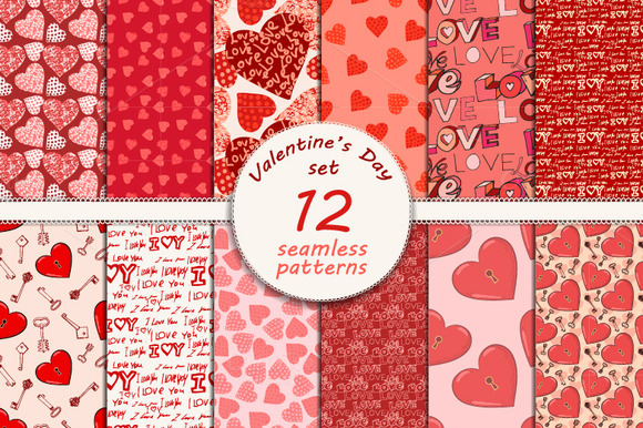 12 Seamless Valentine S Day Patterns