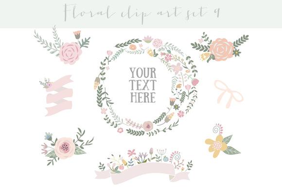 Floral Clipart Set 9