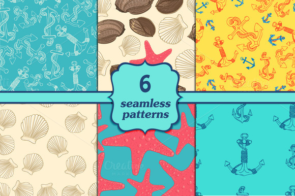 Six Seamless Sea Patterns