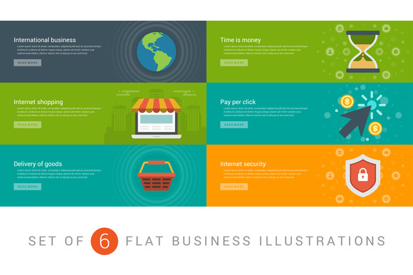 Flat Website Banners Template