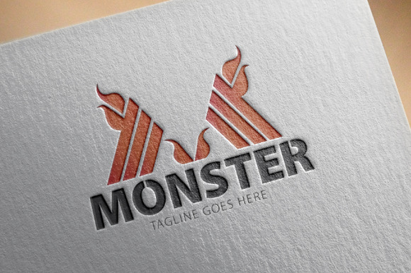 Monster M Letter Logo