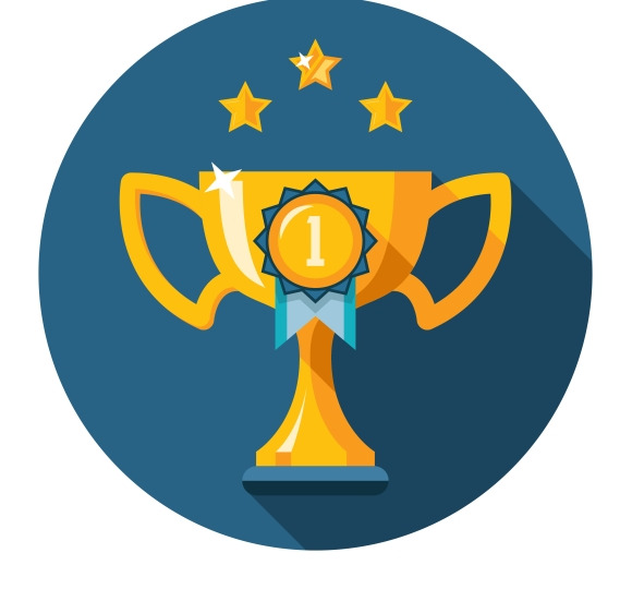 Gold Winner Trophy Cup Flat Icon