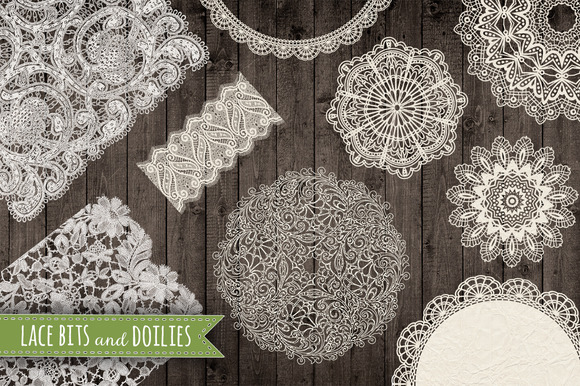 Lace And Doilies Graphic Set PNG