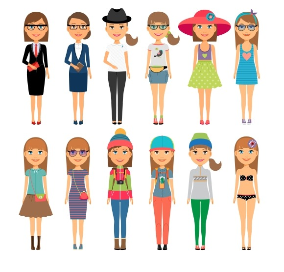Cutie Cartoon Fashion Girls