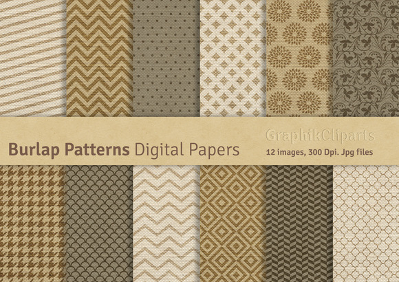 Burlap Digital Patterns