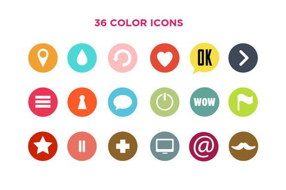 Big Set Of Color Web Design Icons