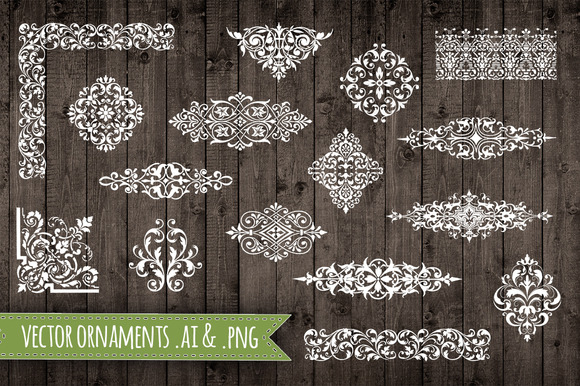 Vector Ornament Elements AI And PNG