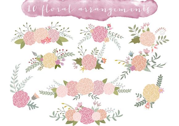 Floral Arrangements Set1