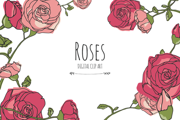 Roses Digital Clip Art