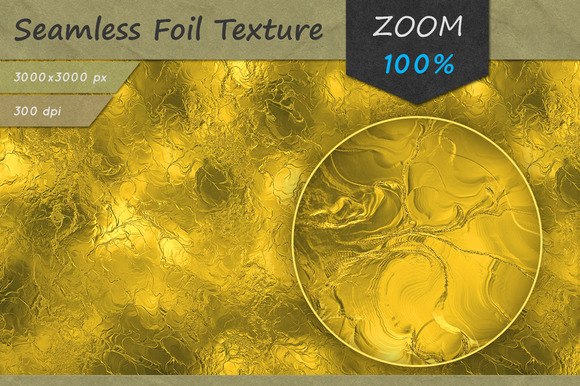Golden Foil Seamless HD Texture