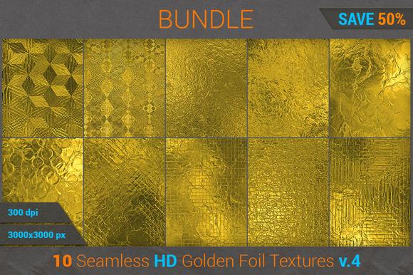 Golden Foil HD Texture Bundle
