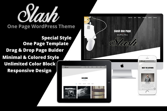 Slash One-Page WordPress Theme