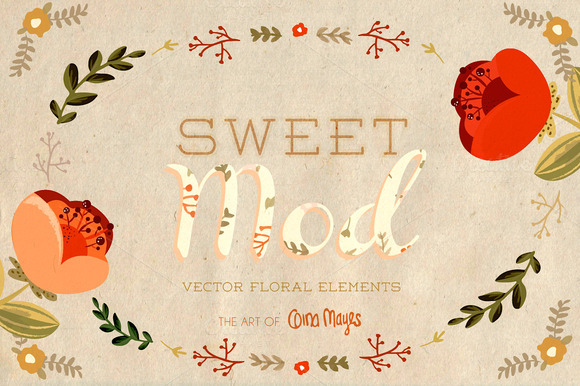 Sweet Mod Vector Floral Elements