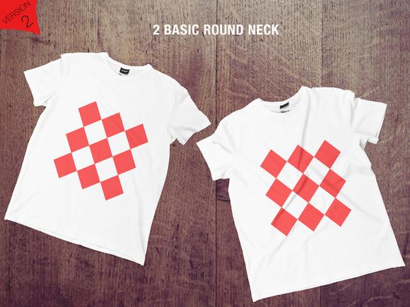 8 Realistic T-shirts Mockup FLOOR