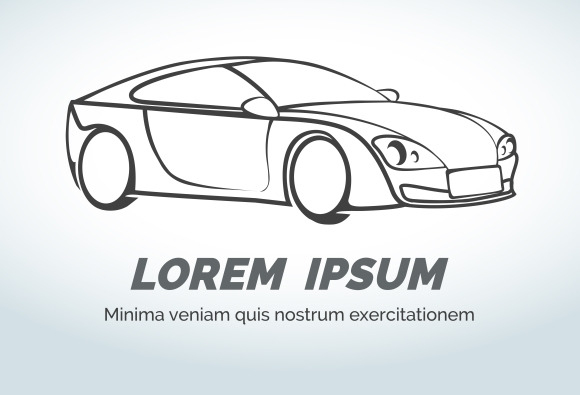 Abstract Car Vector Logo