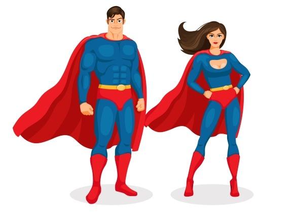 Vector Superhero Couple