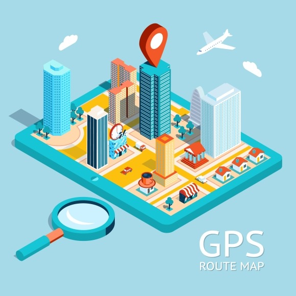 GPS Route Map City Navigation App