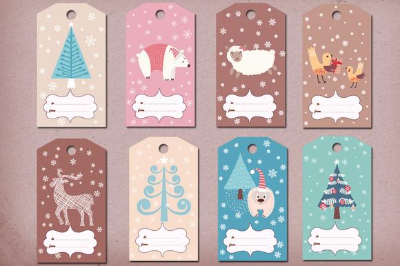 Winter Christmas Gift Tags