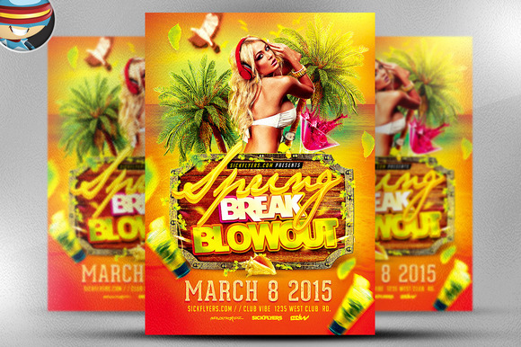 Spring Break Blowout Flyer Template