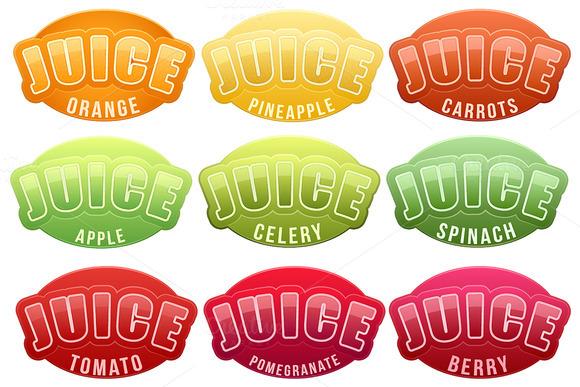 Unique Set Of Juice Labels