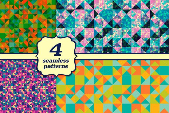 4 Seamless Triangular Patterns