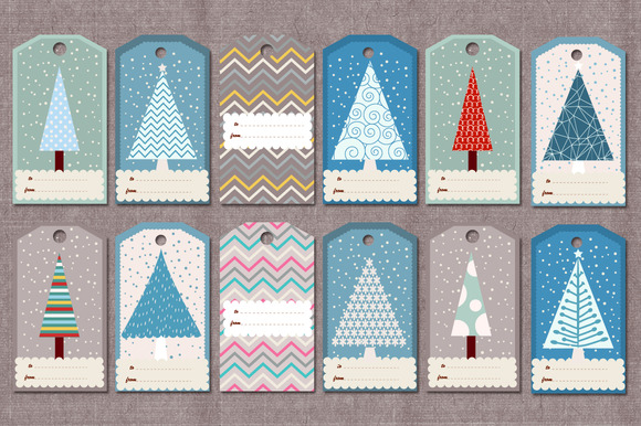 Winter Christmas Gift Tags