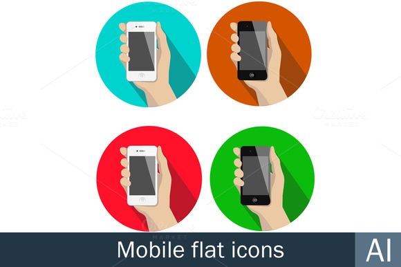 Mobile Flat Icons